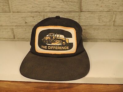 """Vintage Old John Deere  """"The Difference""""  Baseball Hat Black Yellow K-Products"""