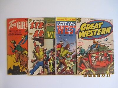 Lot Of (5) Golden Age Western Related Comic Books