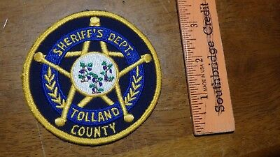 Tolland County Connecticut Sheriff  Department  Cloth Back   Patch Bx G#7