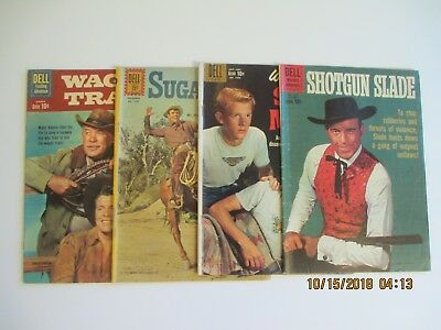 """Lot Of (4) Western Related Dell Comic Books 1960""""s"""