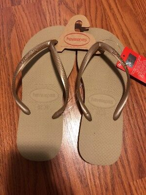 e8014662827778 HAVAIANAS SLIM SANDALS Women s 39   40 7 8 Sand Gold SH306 -  22.99 ...