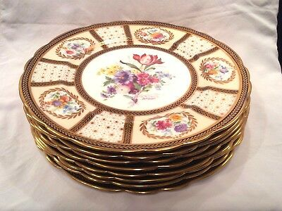 Paragon China Her Majesty Queen Mary Reproduction - 8 Dinner Plates - 11 inches