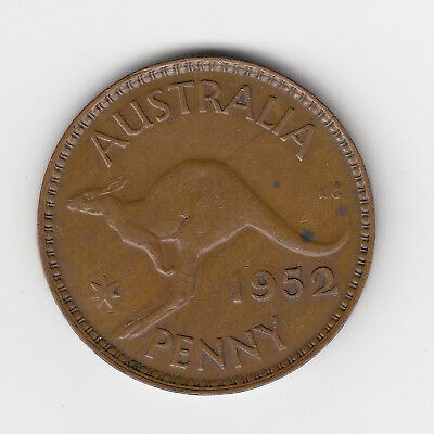 1952M Australia Kgvi Penny - Very Nice Collectable Coin