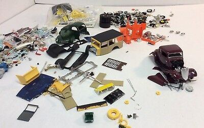 AMT/MPC/ Revell. 1/25th scale Model Kit Parts Junkyard (HotRods)