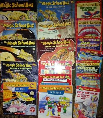 Magic School Bus 18 Oblong Etc Book lot Chapter Books Scholastic Free Shipping