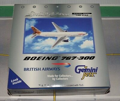 1/400 scale British Airways 767-300 by Gemini Jets. See description.