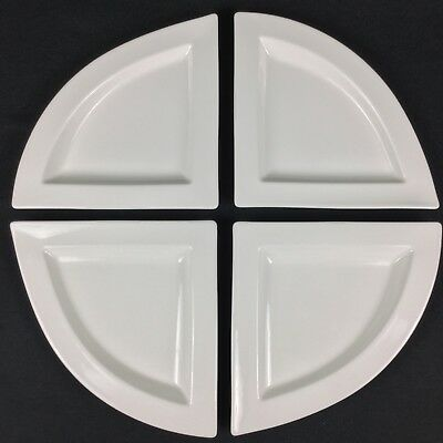 """Villeroy & Boch New Wave FOUR (4) 8 1/2"""" Triangle Salad Side Appetizer Plates"""