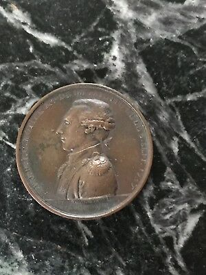 """Rare Antique General Lafayette Bronze Medal High Relief 1.5"""" French 1800s War"""