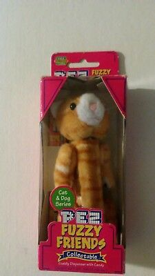 NEW 2002 PEZ Fuzzy Friends Puff the Cat Plush Collectible Candy Dispenser In Box