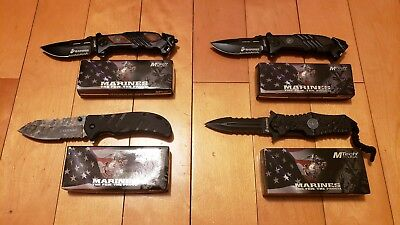Officially Marines tactical Spring Assisted Pocket knife 4 pack