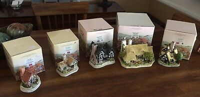 Set of 5 David Winter Cottages with boxes - great condition!