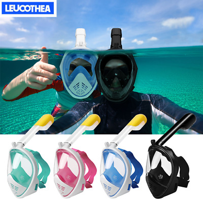 LEUCOTHEA Anti-Fog Swimming Diving Full Face Mask Surface Snorkel Scuba L/XL/S/M