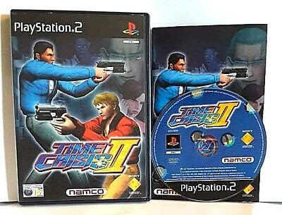 PAL VERSION Time Crisis II (Sony PlayStation 2, 2001) cib complete ps2