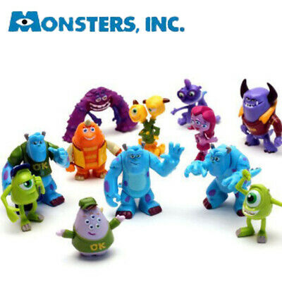 12 PCS Monsters Inc. Monster University Action Figures PVC Decoration Kids Toys
