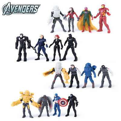 Super Hero Marvel The Avengers 16 PCS Action Figures Iron Man Kids Toys Gifts US