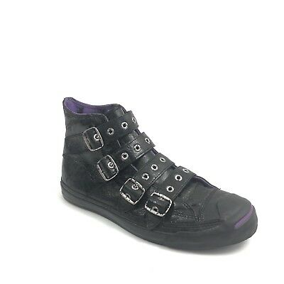 Converse Jack Purcell X Black Sabbath Mens 9 Emo Grunge Leather Hi Top  Sneakers b81bef95d
