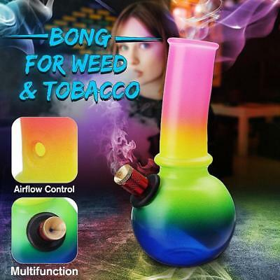 Metal+Rubber Hookah Water Pipes Smoking Bong Glass Shisha Tobacco Filter Bowl AU