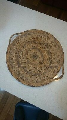 NEW GUINEA ORIGINAL BUKA HAND WOVEN FRUIT TRAY... 46 Cms IMMACULATE CONDITION