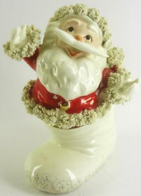 vintage 50's Christmas SPAGHETTI SANTA in BOOT