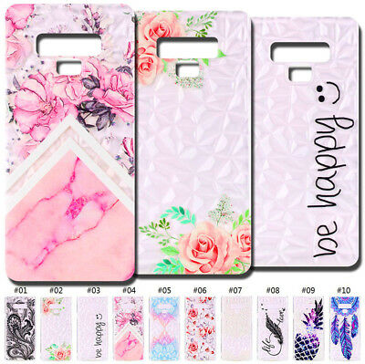 Soft Gel TPU Case Cover Rubber Skin Diamond Back For Samsung Galaxy Note 9/N960