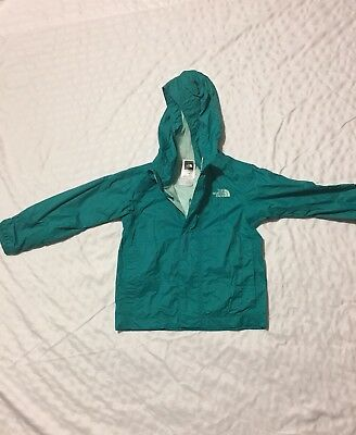 Girls Rain Coat North Face Size 3T, Teal Green Excellent Condition Free Shipping