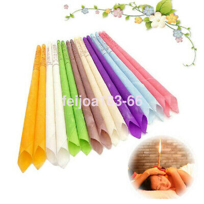 10PCS Candles Hollow Blend Cones Beeswax Cleaning Massage Natural Scented