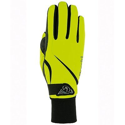 Roeckl Wismar Womens Gloves Everyday Riding Glove - Neon Yellow All Sizes