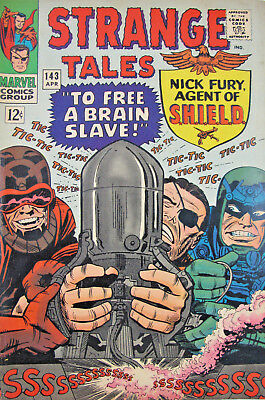 Strange Tales Nick Fury #143 1966 Marvel Comic Silver Age FN+ 6.5 12 Cent Cover