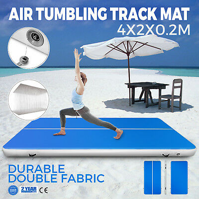 13Ft Air Track Floor Tumbling Inflatable Gym Mat Gymnastic 8in Thick AirTrack