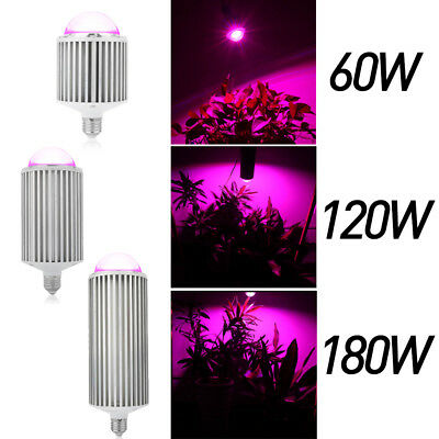 COB LED Plant Grow Light Lamp Blue Red Bulb 60W -180W For Hydroponic Greenhouse