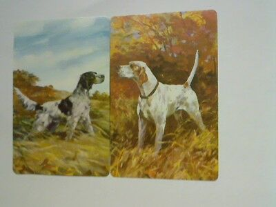 2 Single Swap/Playing Cards - Pair Hunting Dogs