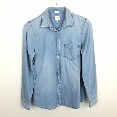 1ca8d448e J. Crew Factory Size Small Chambray Shirt Perfect Fit Long Sleeve Button  Down S