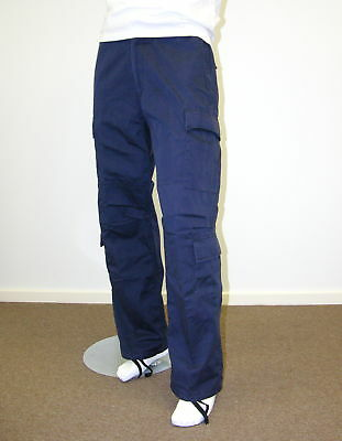 Mens Trade Wear Work Pants Casual Comfort Outdoor Camping Cargo Pants -Navy Blue