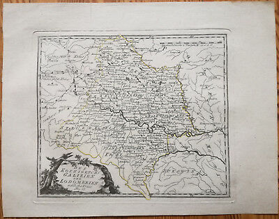Reilly Original Engraved Folio Map Wolhynien Ukraine Eastern Part - 1789