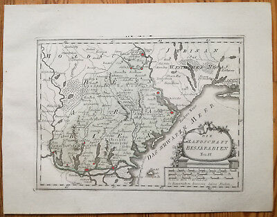 Reilly Original Engraved Folio Map Moldavia Besarabia Black Sea - 1789