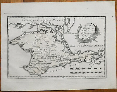 Reilly Original Engraved Folio Map Krim Crimea Black Sea - 1789