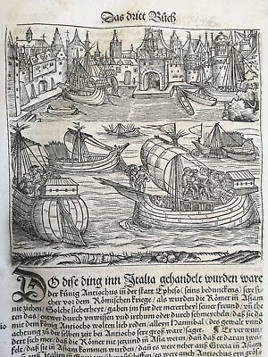 Livius History of Rome Post Incunable Woodcut Schoeffer (333) - 1530