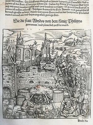 Livius History of Rome Post Incunable Woodcut Schoeffer (204) - 1530