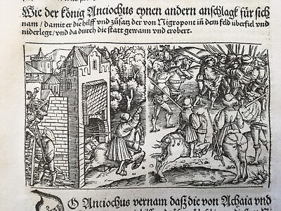 Livius History of Rome Post Incunable Woodcut Schoeffer (334) - 1530