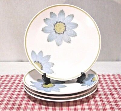 LOT of 4 Noritake Progression 9001 UP-SA-DAISY Salad Plates Vintage Mid-Century