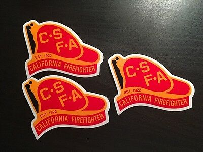 SALE (3) CSFA FIRE STICKERS-90 YEAR ANNIVERSARY GOLD EDITION - L'td time