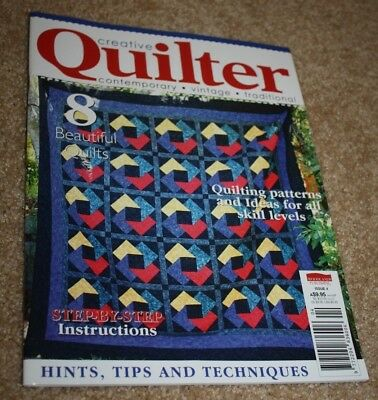 Creative Quilter magazine new issue 4 great for the aspiring quilter