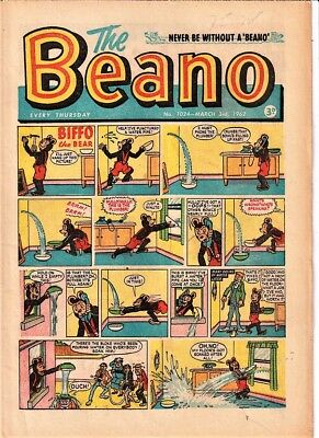 BEANO # 1024 March 3rd 1962 comic the issue