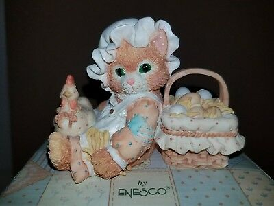 """New Nib Nos 1994 Enesco Calico Kittens """"friendship Is The Best Blessing"""" 102679"""