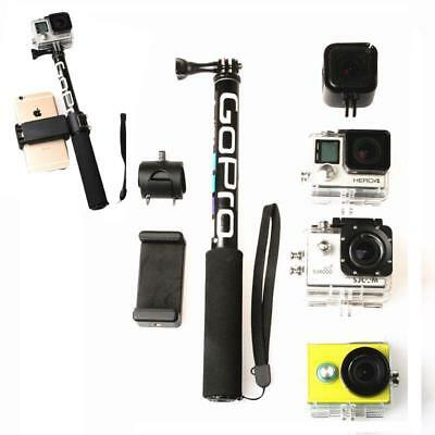 Gopro Selfie Stick Monopod 3 4 5 6 Hand Pole Extendable Waterproof Phone Holder