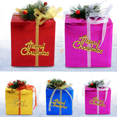 US Christmas Gift Box Large Present Wrapping Boxes Ribbon Handles Big Boxes  sc 1 st  PicClick & US CHRISTMAS GIFT Box Large Present Wrapping Boxes Ribbon Handles ...