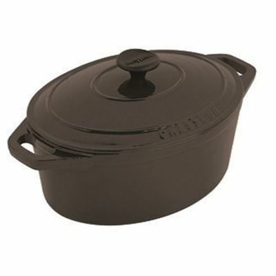 Chasseur Cast Iron - Matt Black<br>Oval French Oven 27cm 3.6Ltr (Made in France)