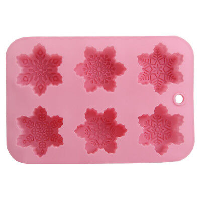 ALS_ Silicone ChristmasSnowflakes Cake Mold Fondant Pudding Jelly Soap Moule Exq