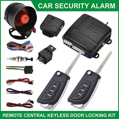 12V Universal Car Alarm Central Locking Security System Immobiliser Shock Sensor