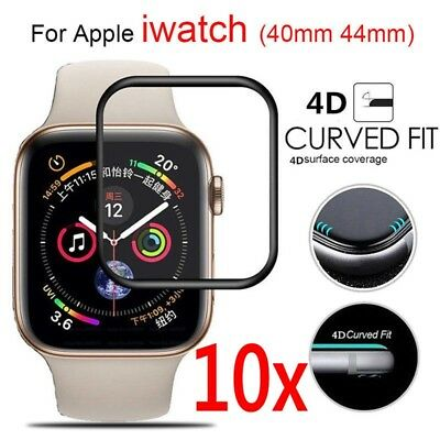 10x Apple Watch Series 4 Full Cover 4D Tempered Glass Screen Protector 40/44mm